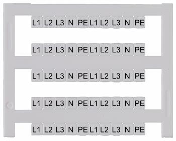 Eddi Klemmenbeschriftung Streifen Bedruckt L1l2l3npe